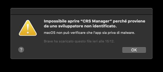 Installare app da uno sviluppatore non identificato macOS